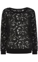 Juicy Couture Lace Sweater - Lyst