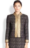 St. John Metallic Tweed Jacket - Lyst