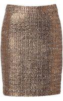 Steffen Schraut Metallic Boucle Skirt - Lyst