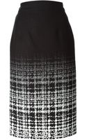 Raoul Ombré Check Pattern Pencil Skirt - Lyst