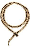 Roberto Cavalli Goldtone Swarovski Crystal Wrap Necklace - Lyst