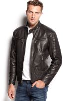 Michael Kors Quilted Washed Leather Jacket - Lyst