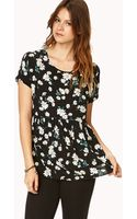 Forever 21 Floating Daisies Top - Lyst