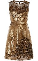 Alberta Ferretti Embroidered Tulle Dress - Lyst