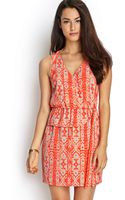 Forever 21 Abstract Surplice Woven Dress - Lyst