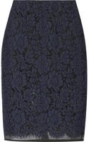 MSGM Lace and Organza Pencil Skirt - Lyst