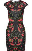 McQ by Alexander McQueen Butterflyprint Stretchjersey Dress - Lyst