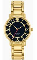 Kate Spade Ladies Gramercy Goldtone Bracelet Watch - Lyst