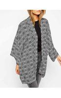 Asos Oversize Kimono in Mono Geo Print - Lyst