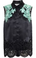 3.1 Phillip Lim Organza Shirt with Floral Embroidery - Lyst