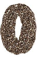 Kate Spade Leopard-print Infinity Scarf Classic Beige Classic Bge Multi - Lyst