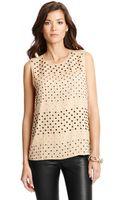 Diane Von Furstenberg Jules Embellished Silk Chiffon Top - Lyst