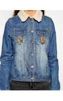 Bellfield Denim Jacket with Faux Shearling Collar - Lyst