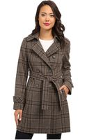 DKNY Double Breasted Menswear Plaid Trench Coat Y4 - Lyst