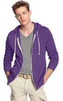 Alternative Apparel Rocky Zip Front Hoodie - Lyst