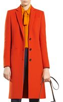 Gucci Dark Orange Wool Coat - Lyst