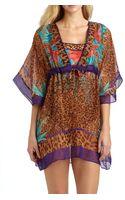 Gottex Swim Silk Tiger Lily Beach Dress - Lyst