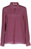 MSGM Long Sleeve Shirt - Lyst