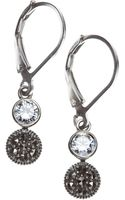 Judith Jack Marcasite and Crystal Double Drop - Lyst