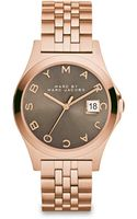 Marc By Marc Jacobs Henry Slim Rose Goldtone Stainless Steel Bracelet Watch Grey - Lyst