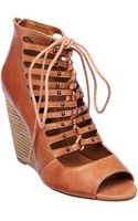 Steven By Steve Madden Simmona Leather Wedge Sandals - Lyst