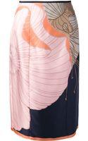 Nina Ricci Printed Skirt - Lyst