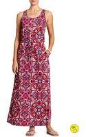 Banana Republic Factory Print Maxi Dress - Lyst