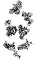 Robin Rotenier Tiger Cuff Links - Lyst