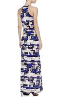 Parker Hillington Printed Halter Maxi Dress Purple - Lyst