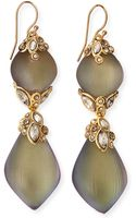 Alexis Bittar Crystal-lace Double Lucite Drop Earrings - Lyst