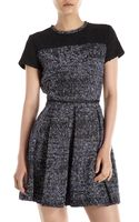 Proenza Schouler Tweed Pleatskirt Dress - Lyst