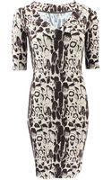 Blumarine Slim Stretch Printed Dress - Lyst