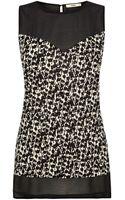 Oasis Camo Print Woven Mix Vest - Lyst