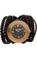 Steve Madden Womens Brown Braided Multistrap Watch 45mm 02 - Lyst