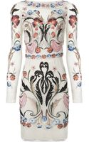 Temperley London Cream Mix Fitted Toledo Dress - Lyst