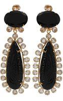 Bounkit Carved Crystal Drop Earrings - Lyst
