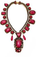 Erickson Beamon Queen Bee Necklace Pink Multi - Lyst
