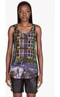 Carven Blue Printed Tank - Lyst