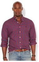 Polo Ralph Lauren Polo Big and Tall Classic-fit Checked Poplin Shirt - Lyst
