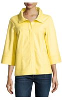 Lafayette 148 New York Three Quarter Sleeve A-Line Jacket - Lyst