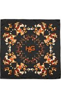 Givenchy Degrade Roses Printed Silk Twill Scarf - Lyst