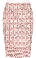 Topshop Moto Tile Print Pencil Skirt - Lyst