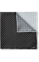 Lanvin Four-tone Polka-dot Silk Pocket Square - Lyst