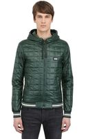 Dolce & Gabbana Quilted Shiny Nylon Hooded Casual Jacket - Lyst