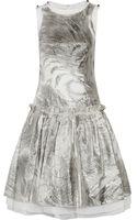 Prabal Gurung Metallic Silk-blend and Tulle Dress - Lyst