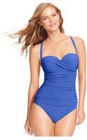 Gottex Bandeau Dcup Onepiece Swimsuit - Lyst