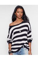 Denim & Supply Ralph Lauren Slouchy Striped Pullover - Lyst