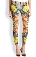 Hudson Nico Snakeprint Super Skinny Jeans - Lyst