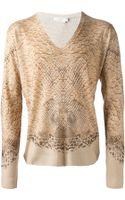 Alexander McQueen Reptile Skin Print Sweater - Lyst