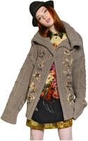 Antonio Marras Embellished Wool Cable Knit Cardigan - Lyst